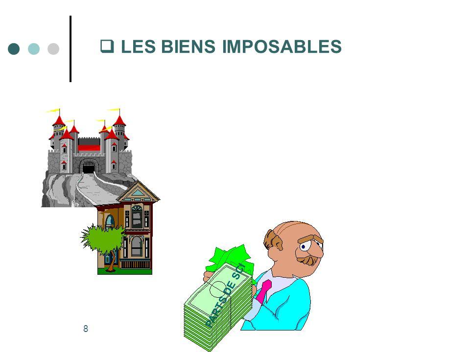  LES BIENS IMPOSABLES PARTS DE SCI