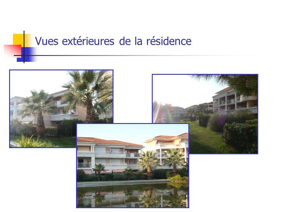 Vues extérieures de la résidence