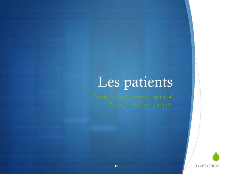 Les patients Charte de la personne hospitalisé