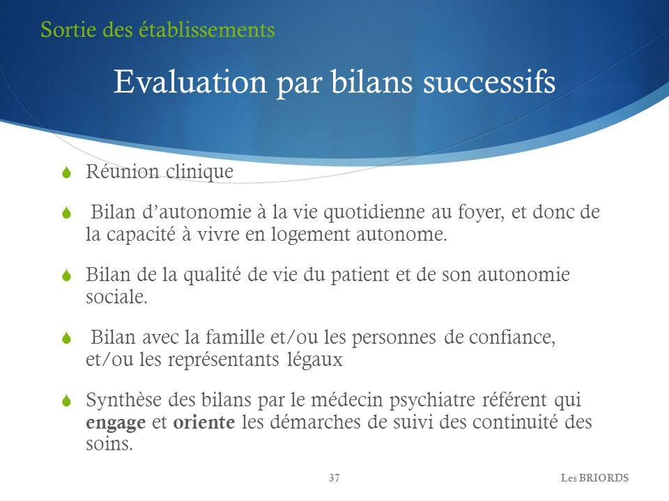 Evaluation par bilans successifs