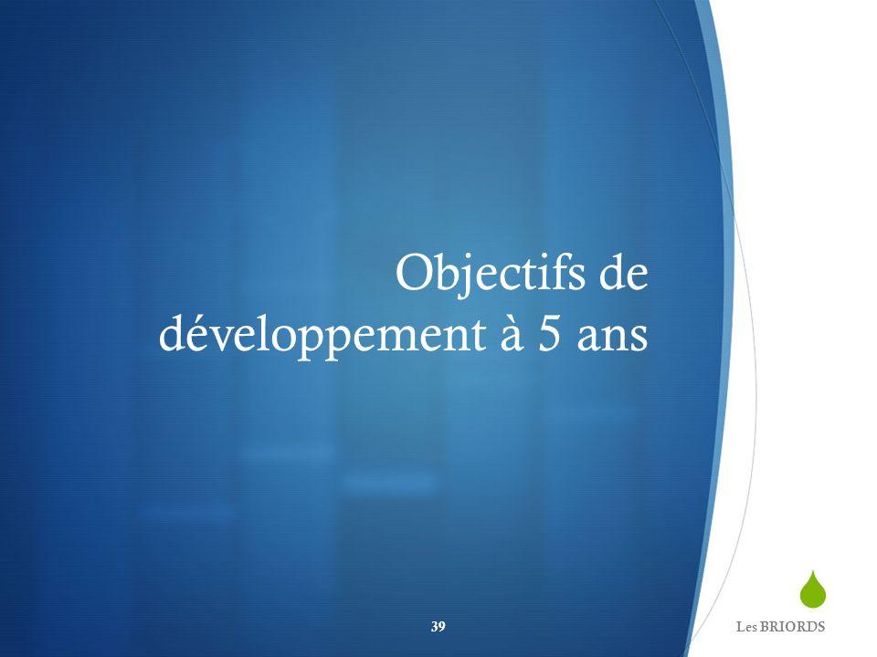 Objectifs de développement à 5 ans