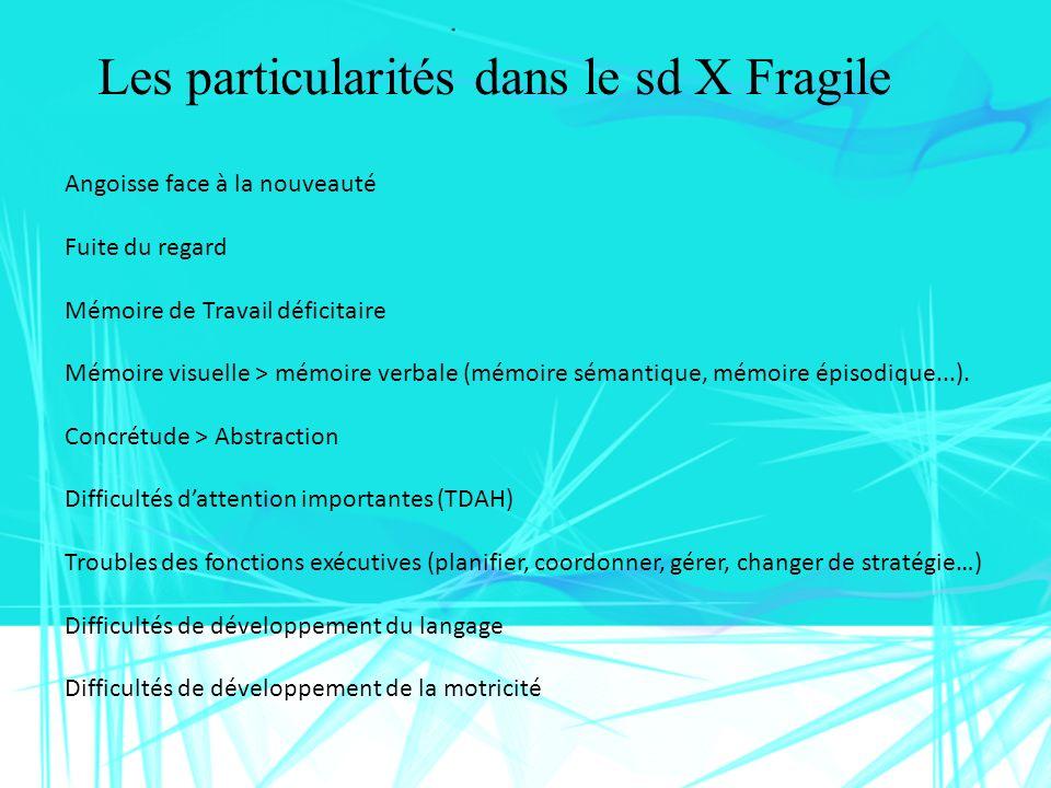 Les particularités dans le sd X Fragile