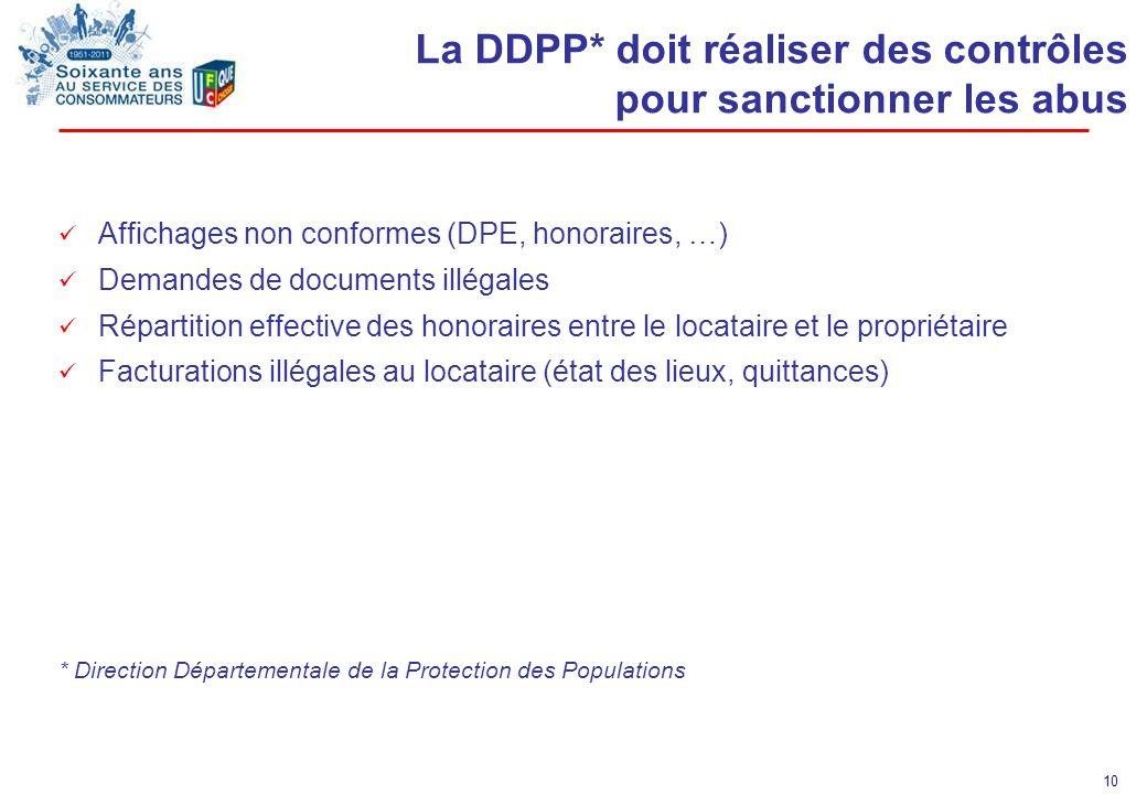 La DDPP* doit réaliser des contrôles pour sanctionner les abus