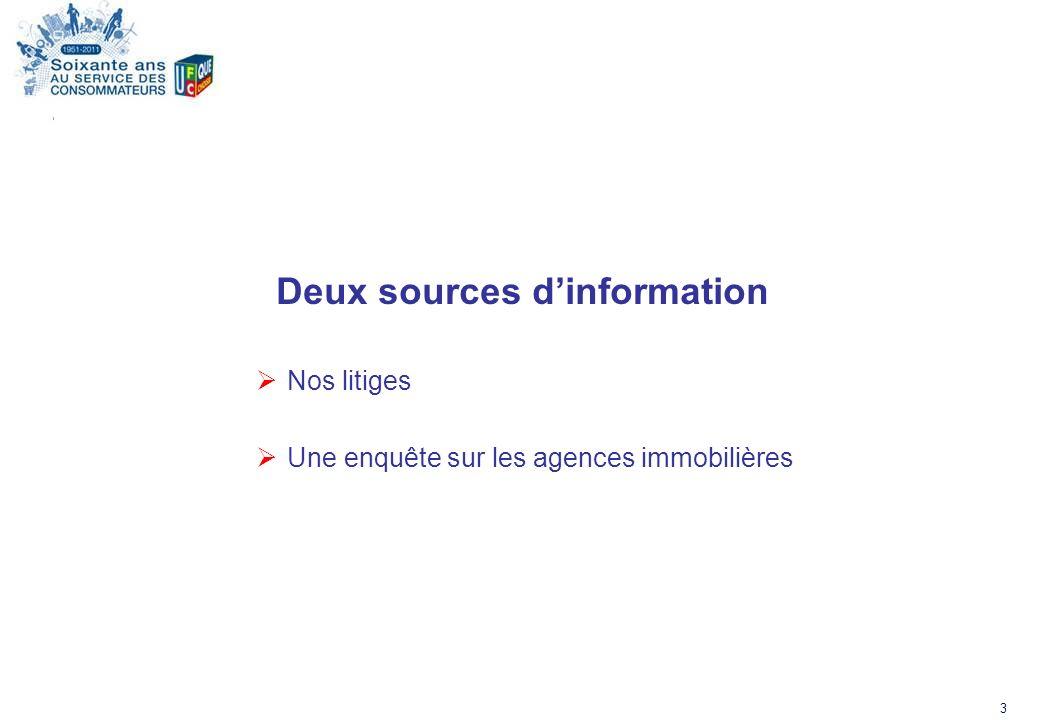 Deux sources d'information