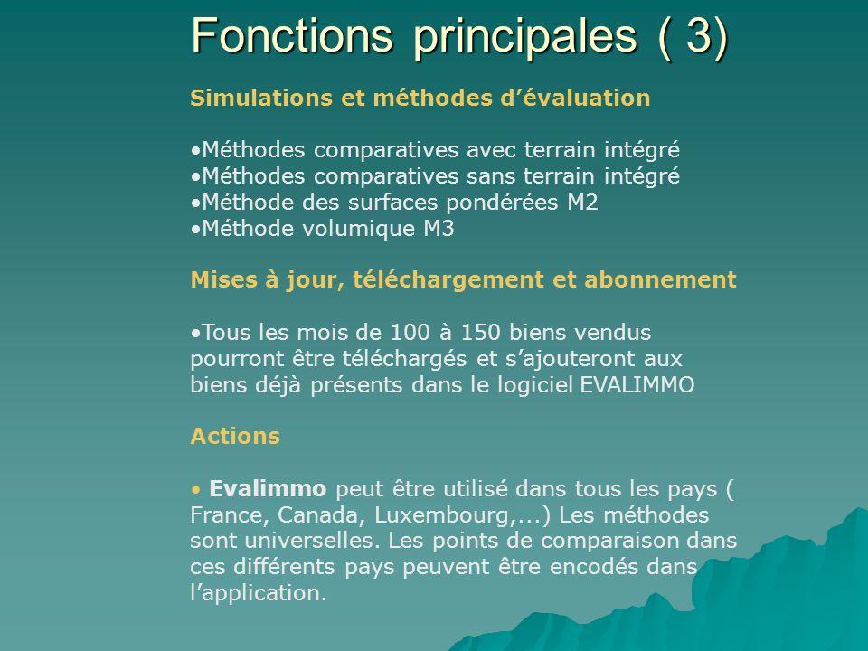 Fonctions principales ( 3)
