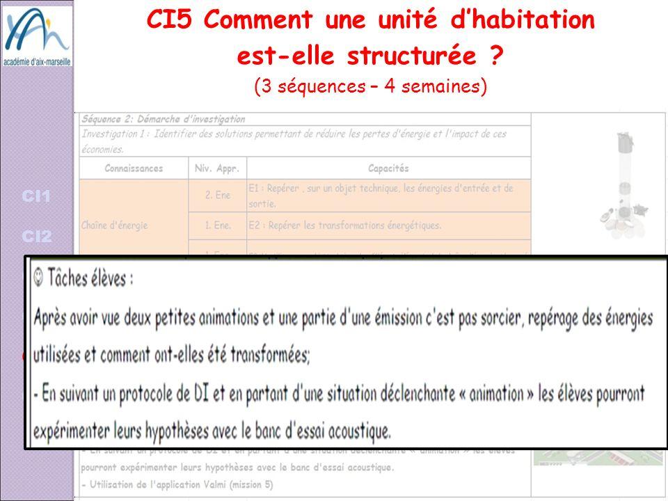 CI5 Comment une unité d'habitation