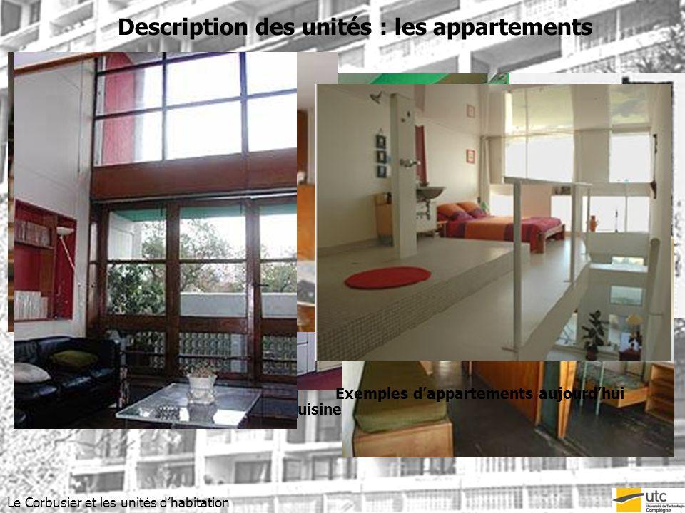 Exemples d'appartements aujourd'hui