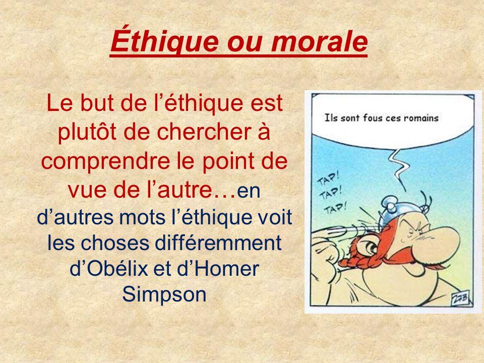 Éthique ou morale