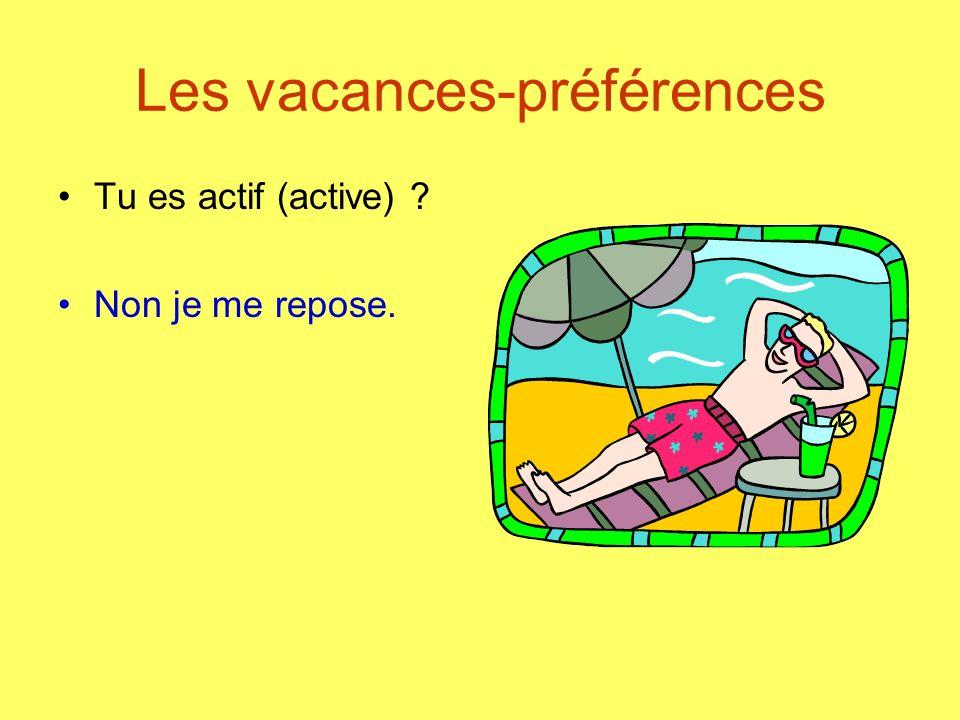 Les vacances-préférences