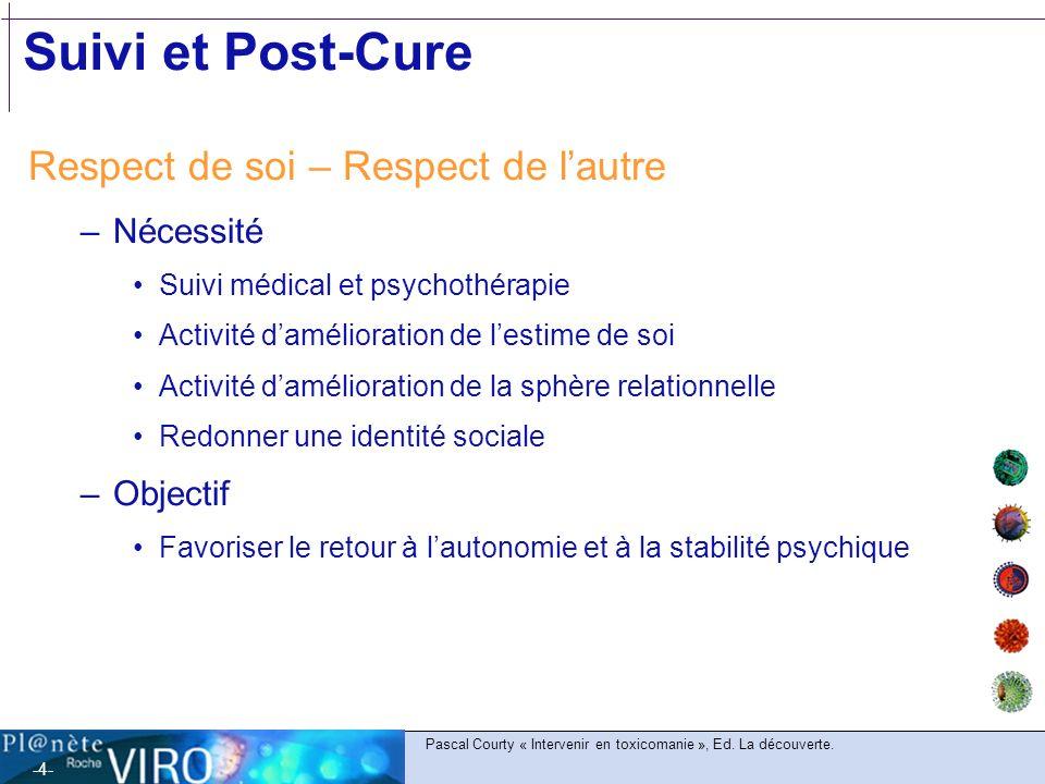 Suivi et Post-Cure Respect de soi – Respect de l'autre Nécessité