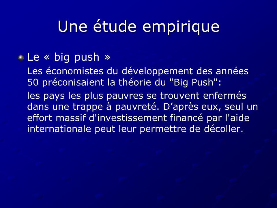 Une étude empirique Le « big push »