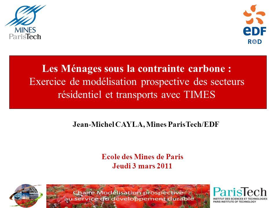 Les Ménages sous la contrainte carbone : Exercice de modélisation prospective des secteurs résidentiel et transports avec TIMES