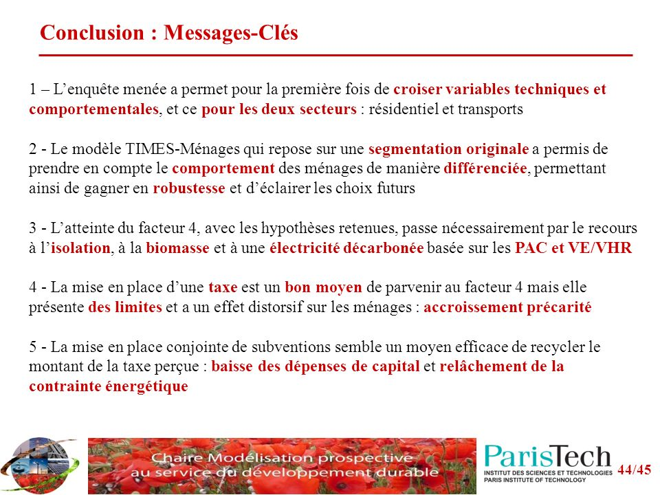Conclusion : Messages-Clés