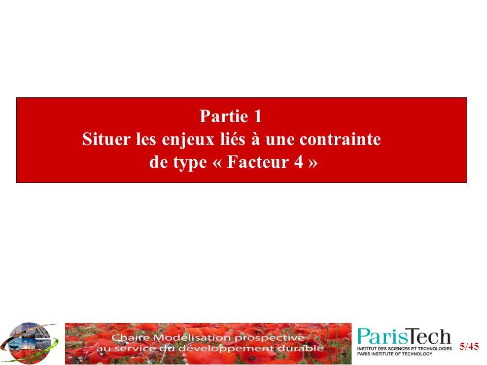 Partie 1 Situer les enjeux liés à une contrainte de type « Facteur 4 »