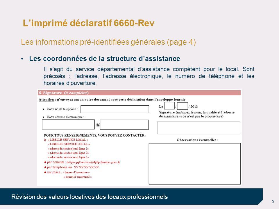 L'imprimé déclaratif 6660-Rev