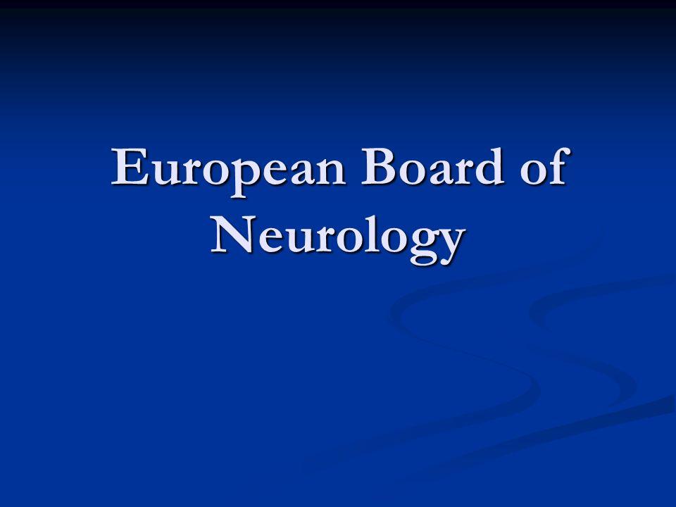 European Board of Neurology