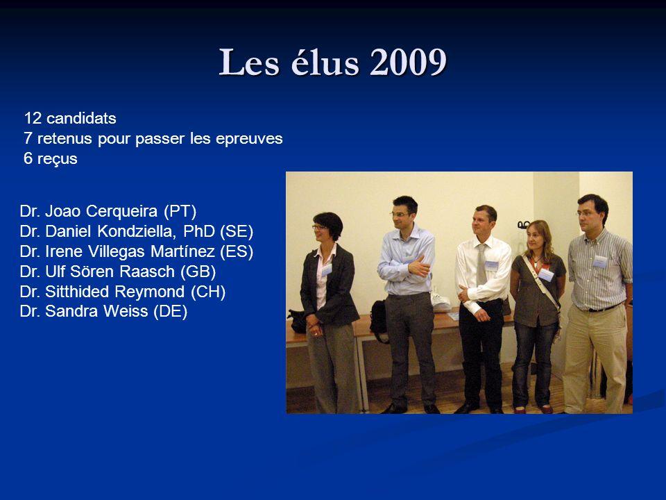 Les élus 2009 12 candidats 7 retenus pour passer les epreuves 6 reçus