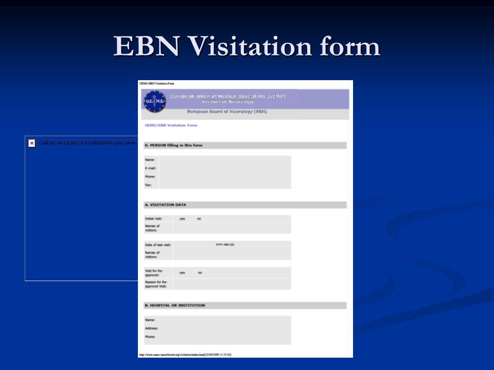 EBN Visitation form