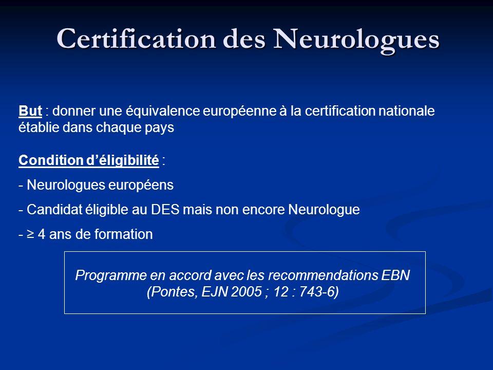 Certification des Neurologues