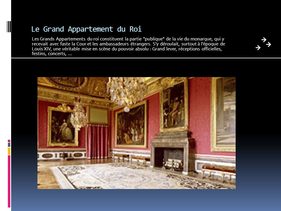 Le Grand Appartement du Roi