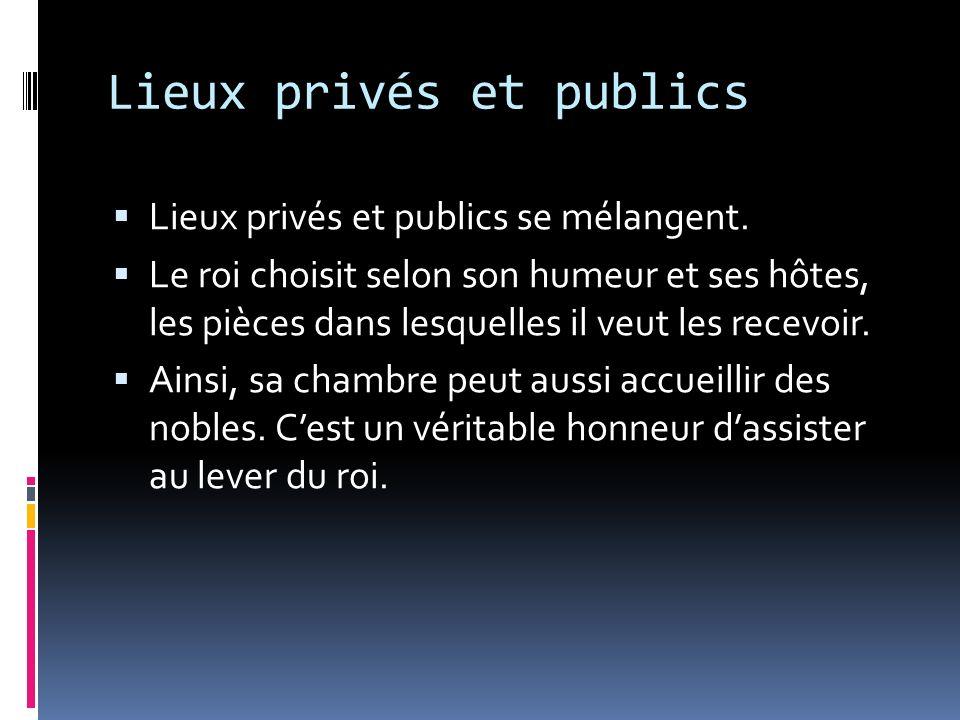 Lieux privés et publics
