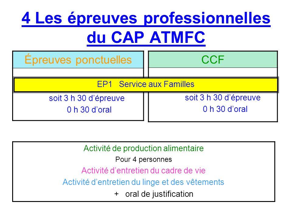 4 Les épreuves professionnelles du CAP ATMFC