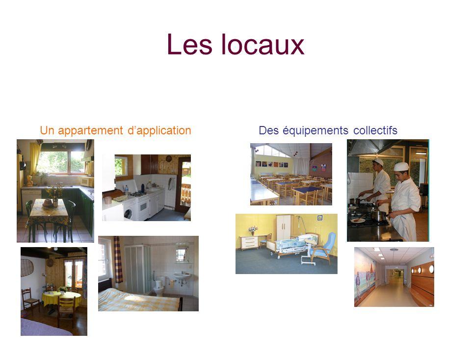 Les locaux Un appartement d'application Des équipements collectifs