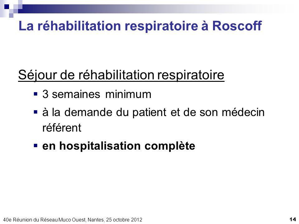 La réhabilitation respiratoire à Roscoff