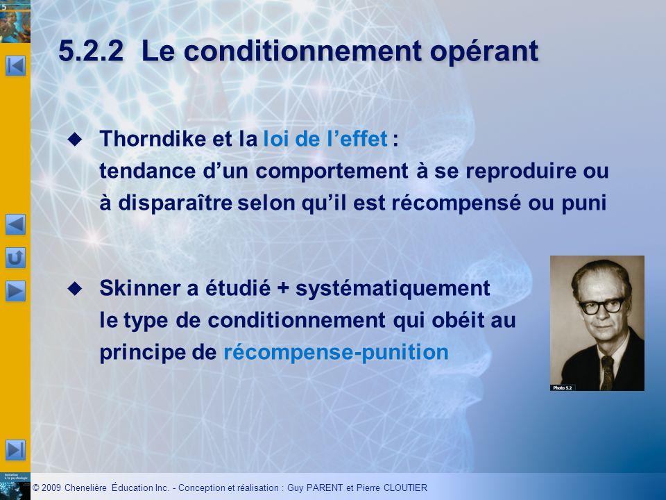 5.2.2 Le conditionnement opérant