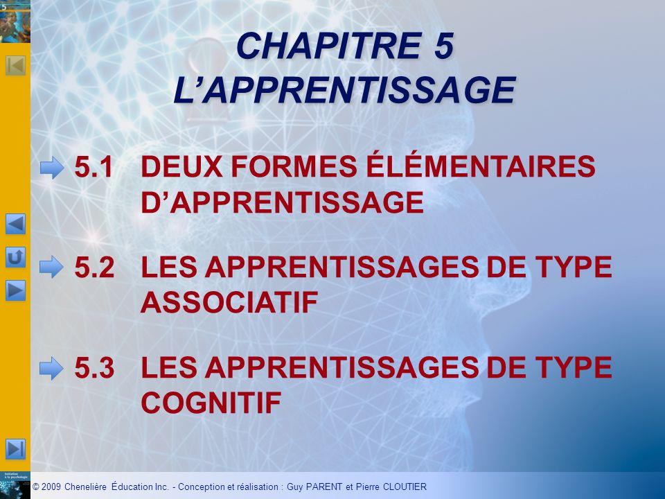 CHAPITRE 5 L'APPRENTISSAGE