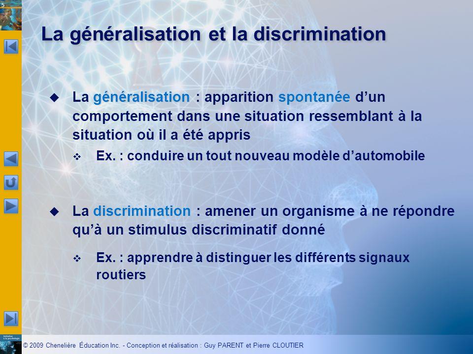 La généralisation et la discrimination
