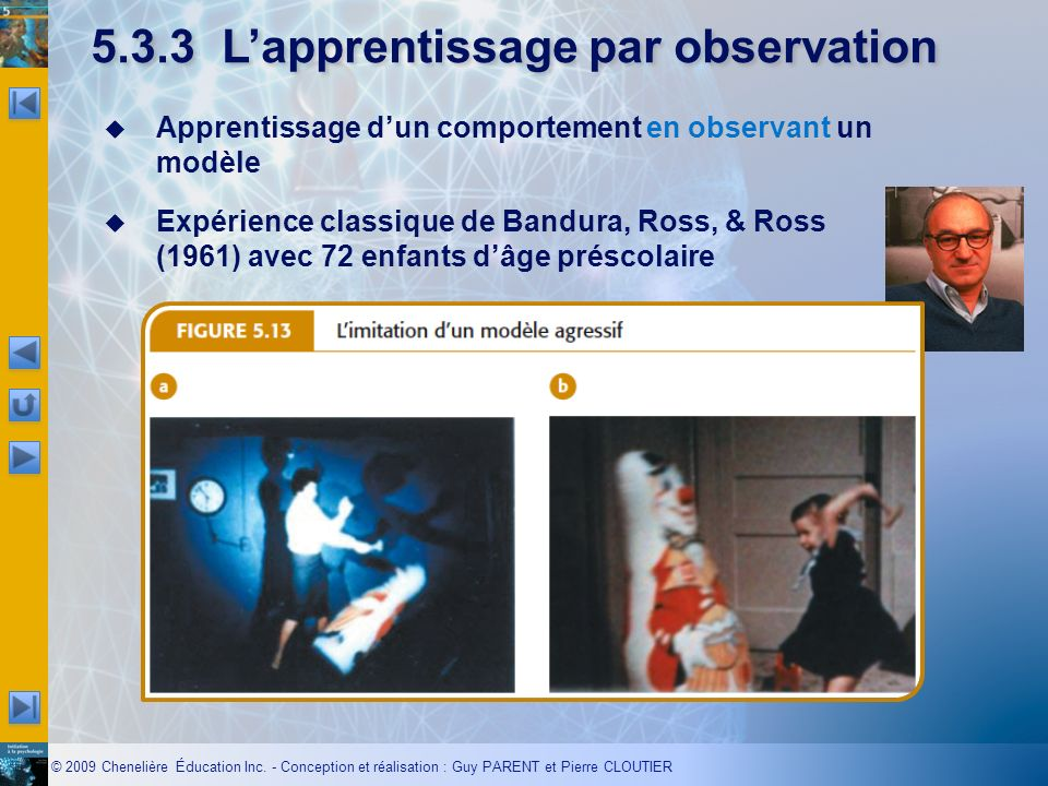 5.3.3 L'apprentissage par observation