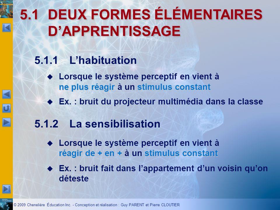 5.1 DEUX FORMES ÉLÉMENTAIRES D'APPRENTISSAGE