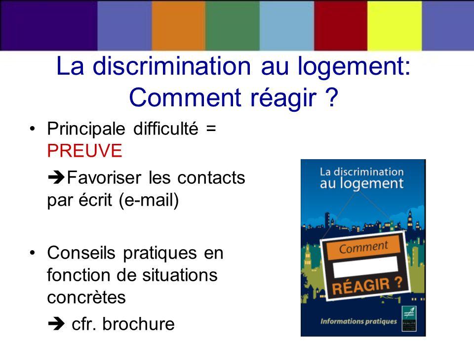 La discrimination au logement: Comment réagir