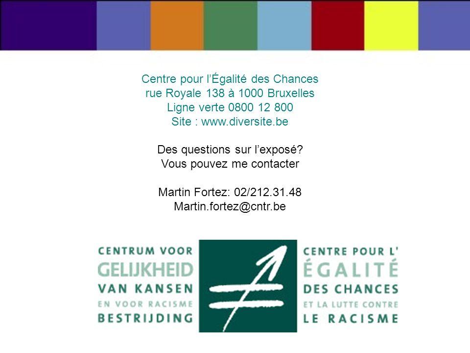 Centre pour l'Égalité des Chances rue Royale 138 à 1000 Bruxelles