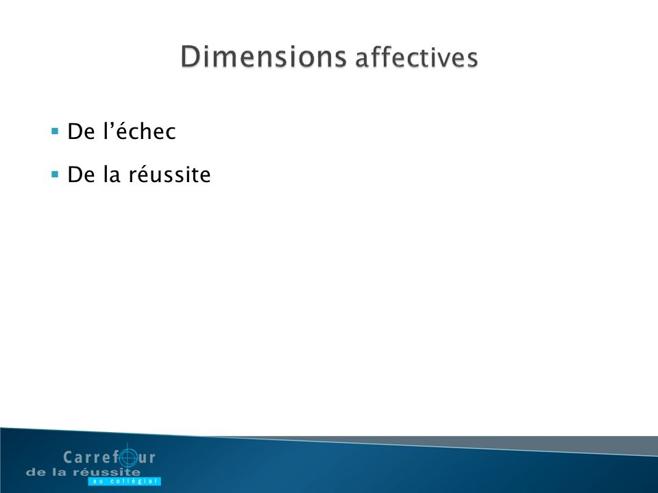 Dimensions affectives