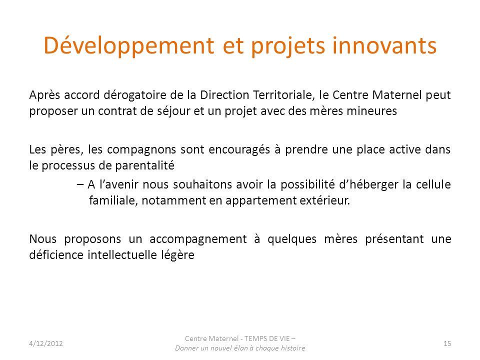 Développement et projets innovants