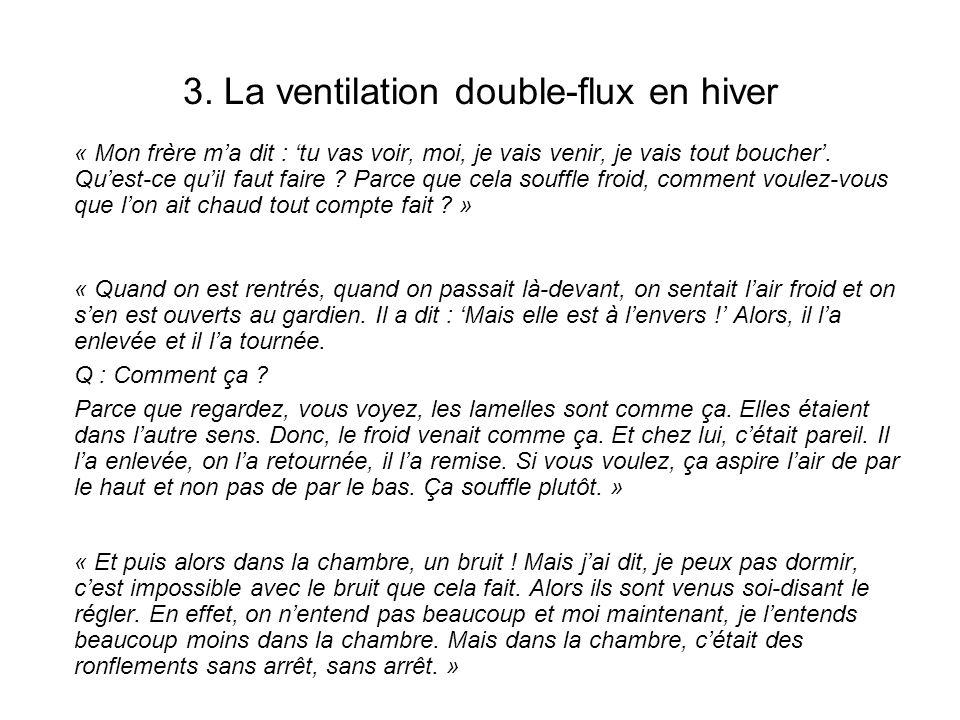 3. La ventilation double-flux en hiver