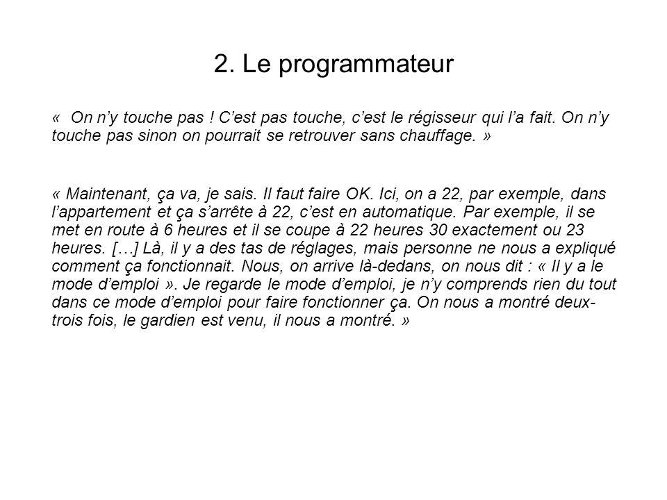 2. Le programmateur
