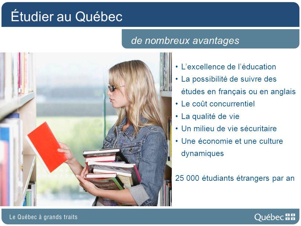 Étudier au Québec de nombreux avantages L'excellence de l'éducation