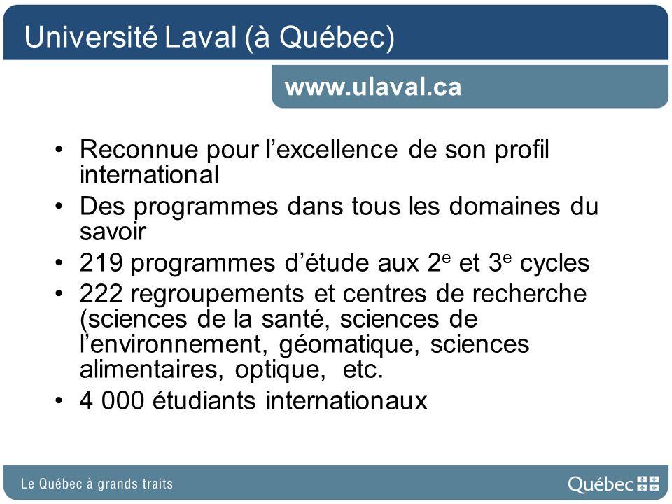 Université Laval (à Québec)