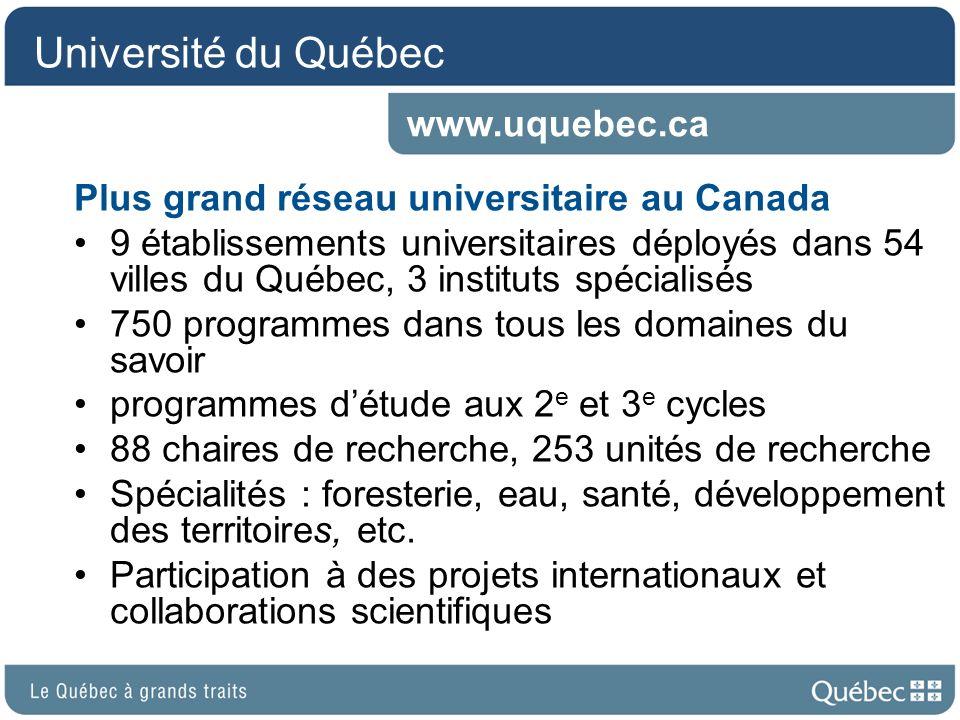 Université du Québec www.uquebec.ca