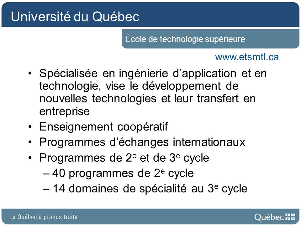 Université du Québec École de technologie supérieure. www.etsmtl.ca.