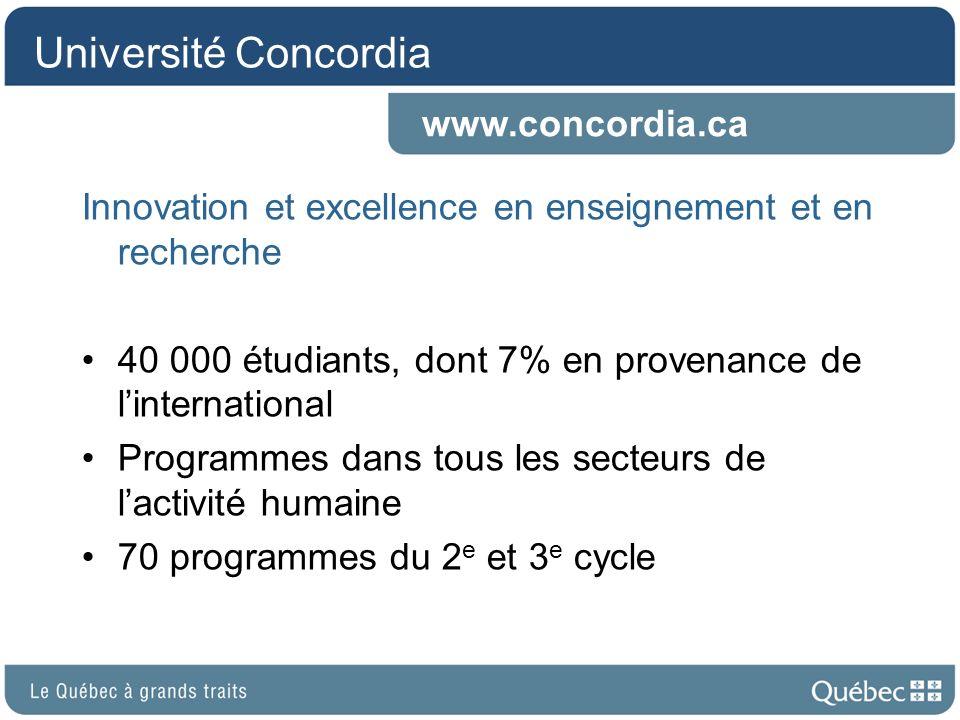 Université Concordia www.concordia.ca
