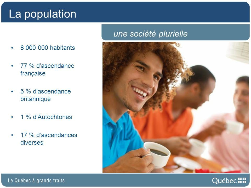 La population une société plurielle 8 000 000 habitants
