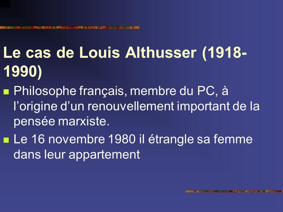 Le cas de Louis Althusser (1918-1990)