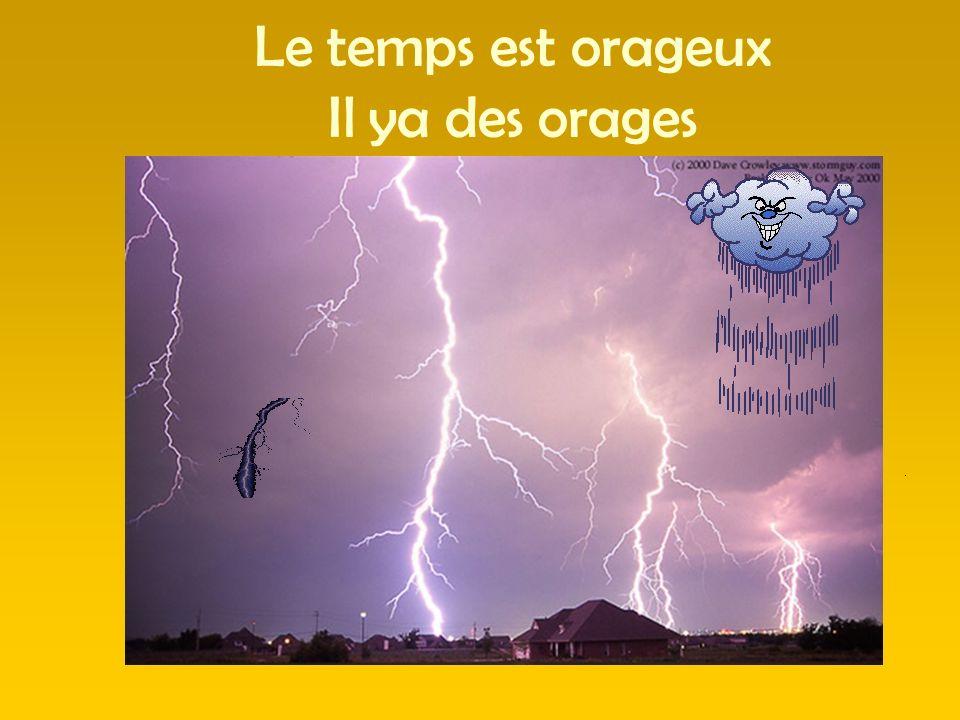 Le temps est orageux Il ya des orages