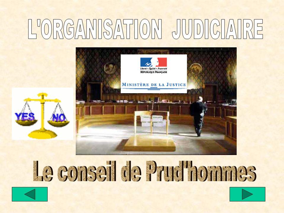 L ORGANISATION JUDICIAIRE