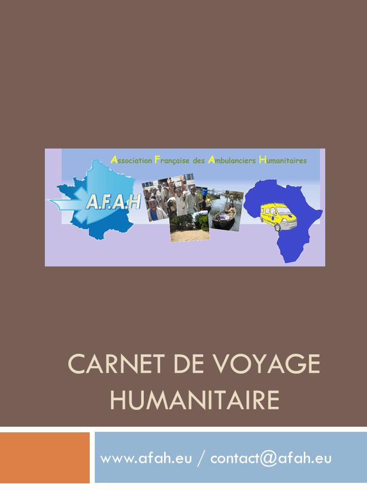 CARNET DE VOYAGE HUMANITAIRE