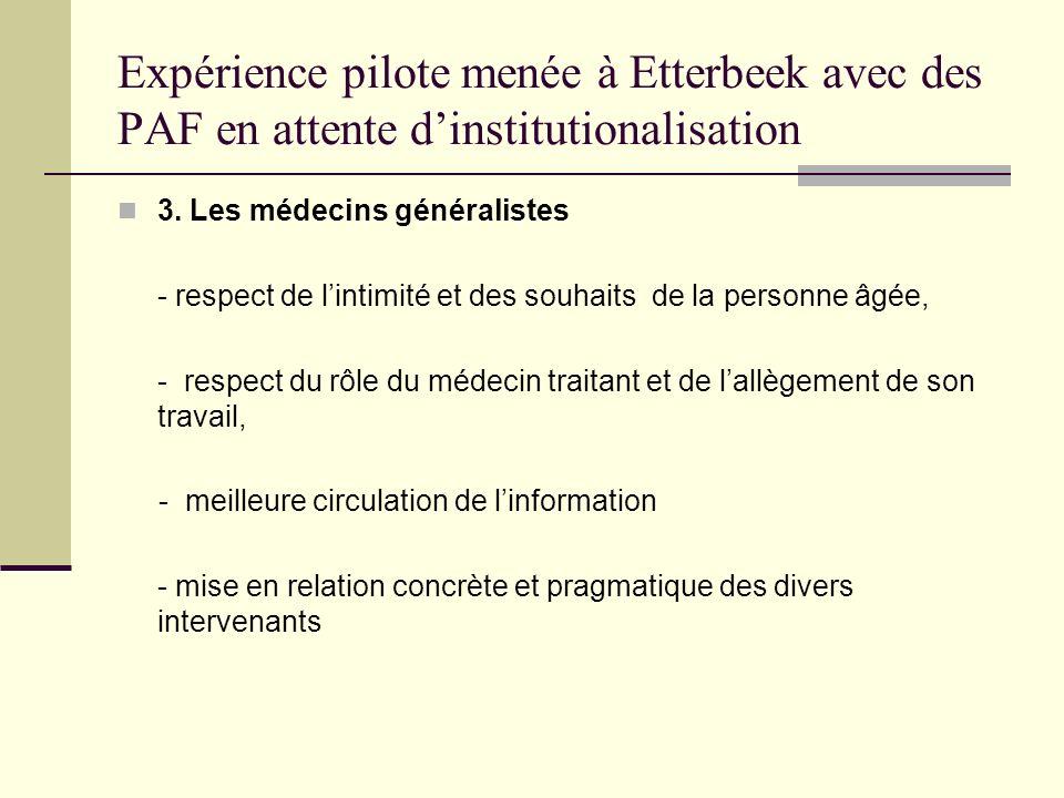 Expérience pilote menée à Etterbeek avec des PAF en attente d'institutionalisation